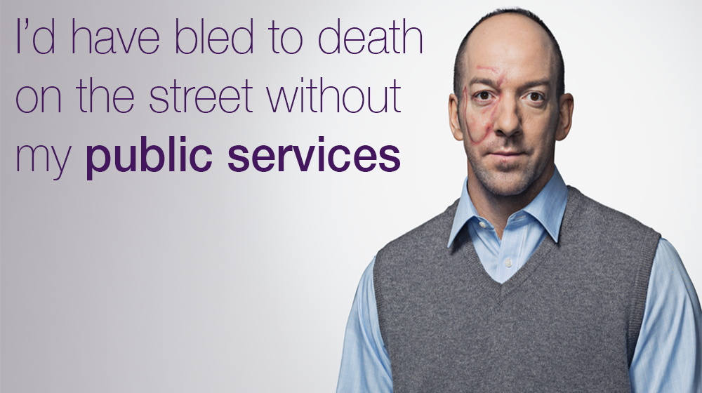"""I'd have bled to death on the street without my public services"" - Man with facial scar"